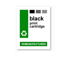 Adhesive all-round labels for black cartridges, waterproof (10 labels)