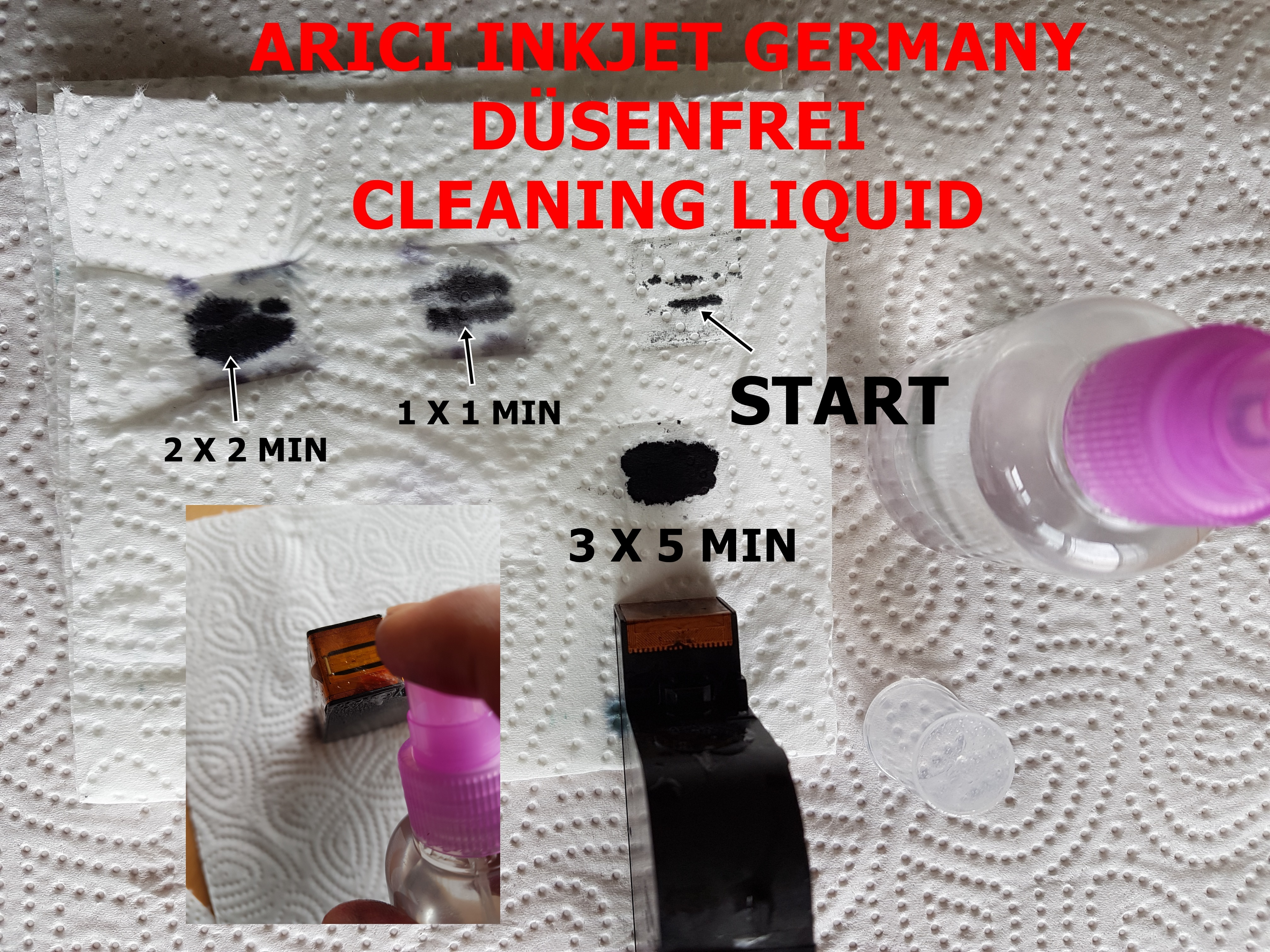 Nozzle cleaner, printhead cleaner, special cleaner for all ink printheads  -Spray 50ml