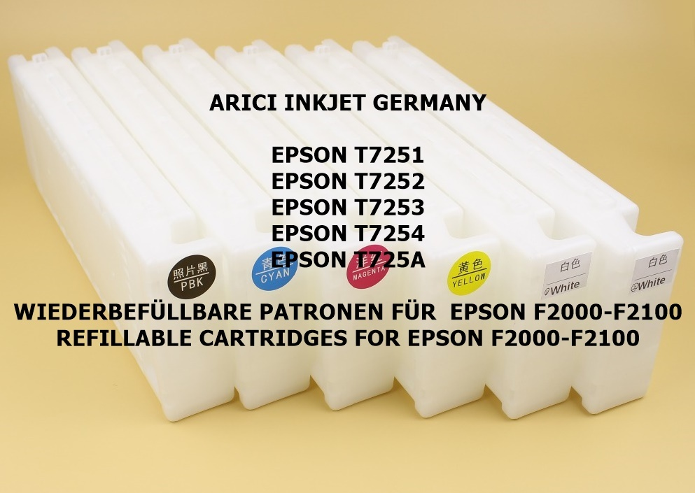 EPSON T7251-T7254-T725A COMPATIBLE CARTRIDGES WITH 600 ML CHIP-DTG  Sublimation Ink 600 ML